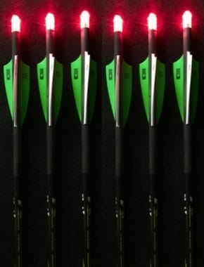 Summit Archery Products 6 Victory Crossbow Bolts with 6 Red Lighted Nocks