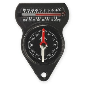 Mini Compass with Thermometer