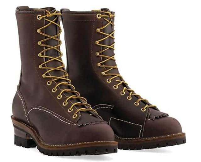 "Wesco Highliner 10"" Brown Lineman Boots"